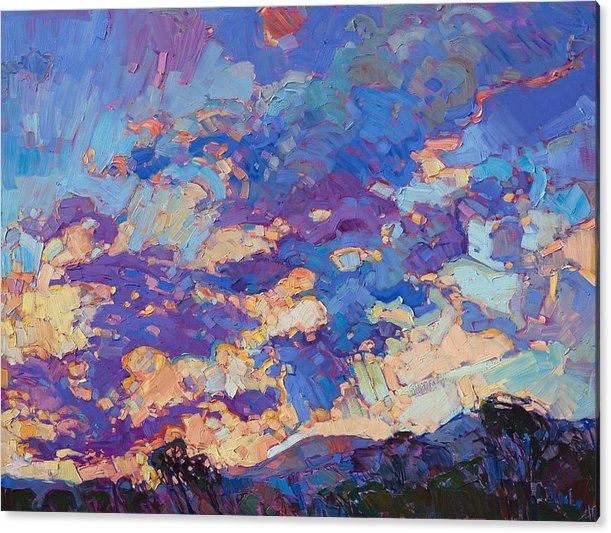 Erin Hanson - Burst of Clouds - Diptych Right Panel
