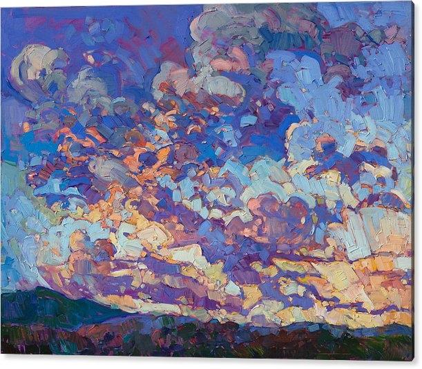 Erin Hanson - Burst of Clouds - Diptych Left Panel
