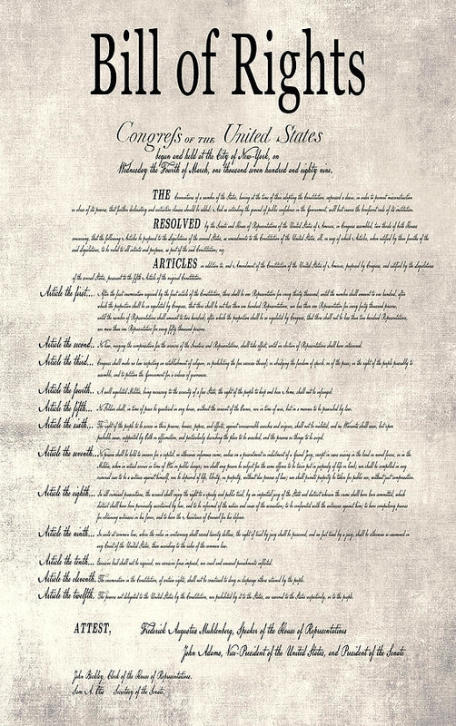 Daniel Hagerman - THE BILL of RIGHTS PARCHMENT
