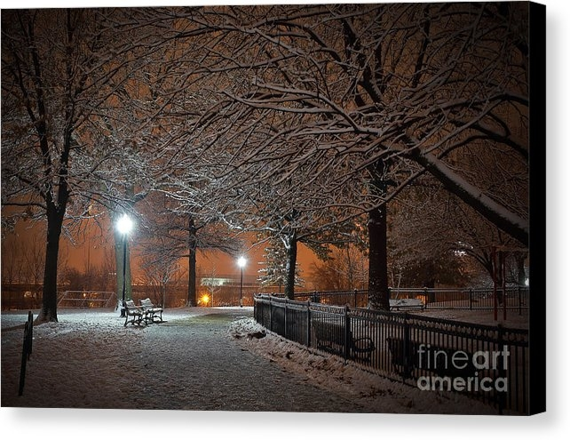 SCB Captures - Amber Skies on a Snowy Winter Night