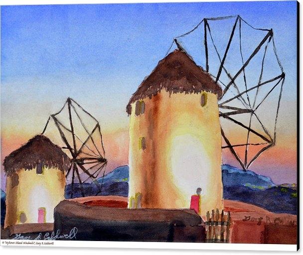 Gary R Caldwell - Mykons Island Windmills of Greece