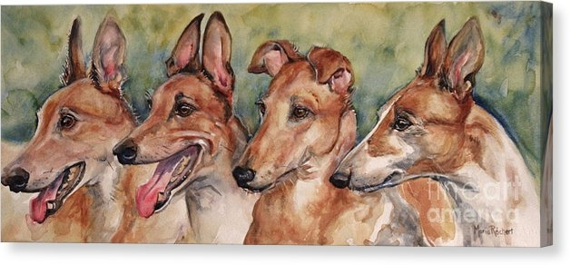 Maria's Watercolor - The Greyhounds