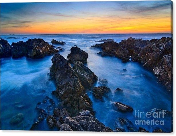 Jamie Pham - Alien Planet - Rocky Asilomar Beach in Monterey Bay at sunset.