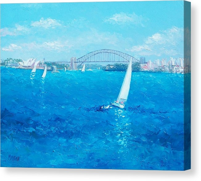 Jan Matson - Sydney Harbour Sail Boats and the Opera House by Jan Matson