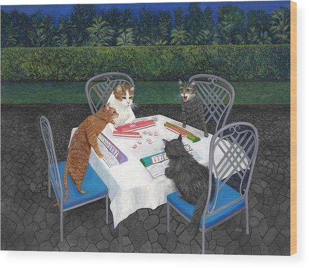 Karen Zuk Rosenblatt - Meowjongg - Cats playing Mahjongg