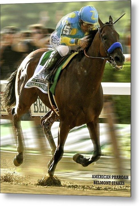 Thomas Pollart - American Pharoah and Victory Espinoza win the 2015 Belmont Stakes