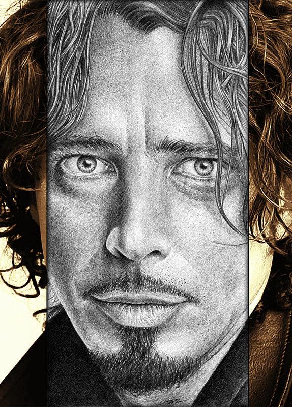 Jeffrey St Romain - Chris Cornell Drawing