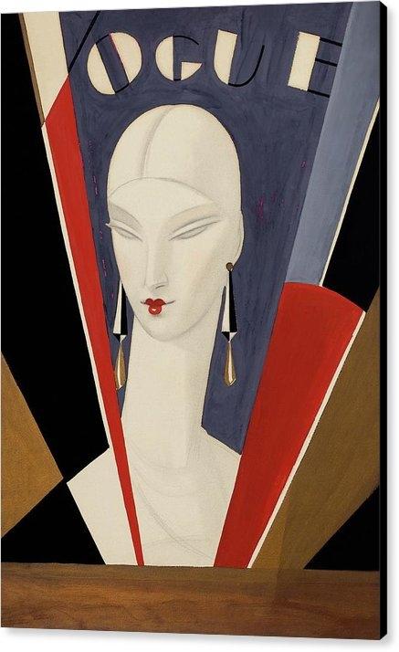 Eduardo Garcia Benito - Art Deco Vogue Cover Of A Woman's Head