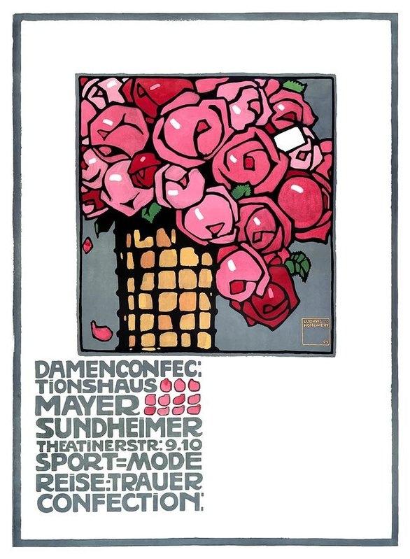 Retro Graphics - 1909 Ludwig Hohlwein Mayer Sundheimer Advertising Poster