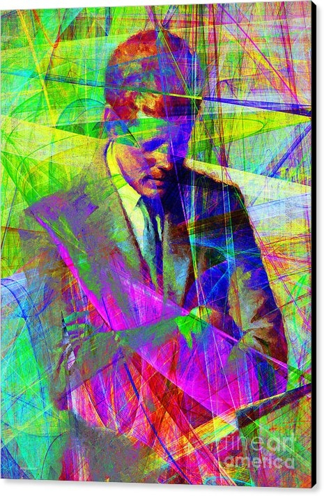 Wingsdomain Art and Photography - John Fitzgerald Kennedy JFK In Abstract 20130610v2