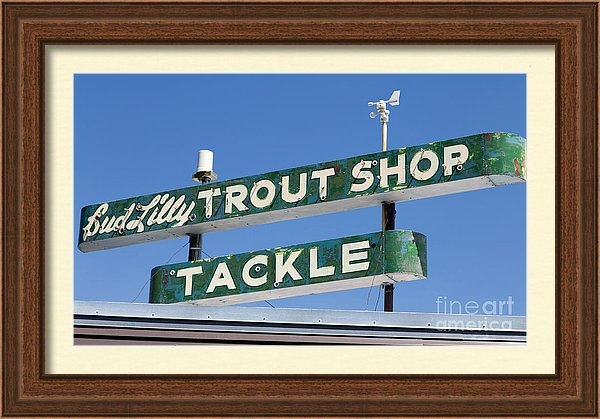 Edward Fielding - Vintage Trout Shop Sign West Yellowstone