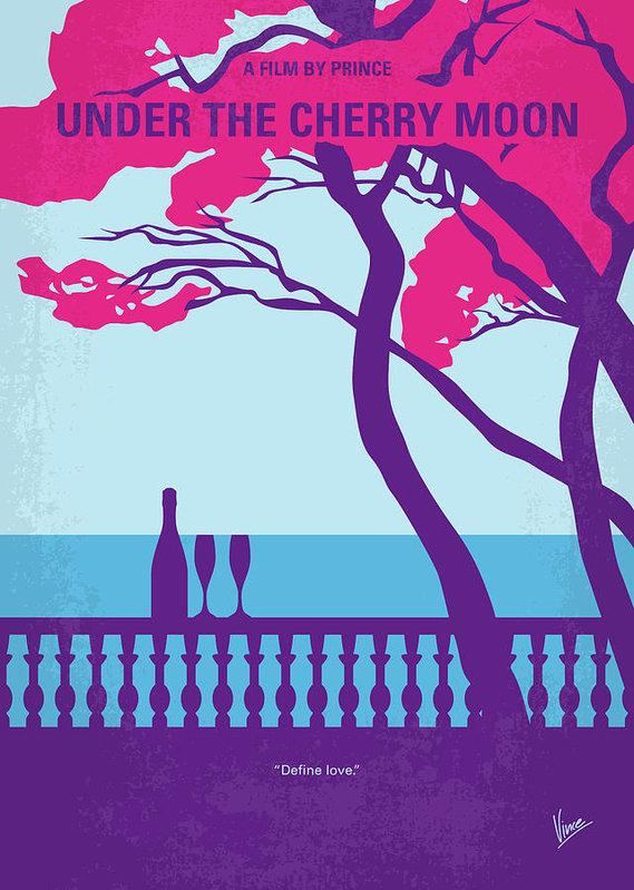 Chungkong Art - No933 My under the cherry moon minimal movie poster