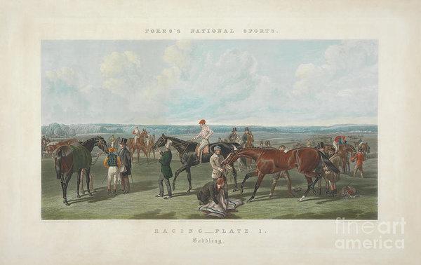 John Frederick Herring - Fores's National Sports- Saddling