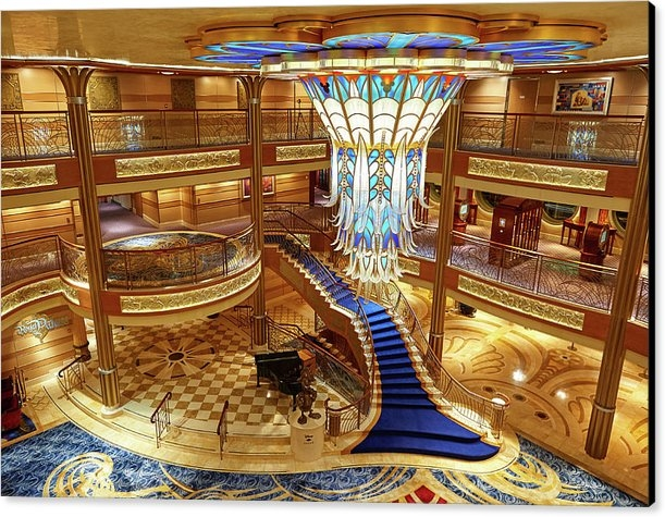 Dzmitry Kliapitsky - Main lobby in disney cruise ship