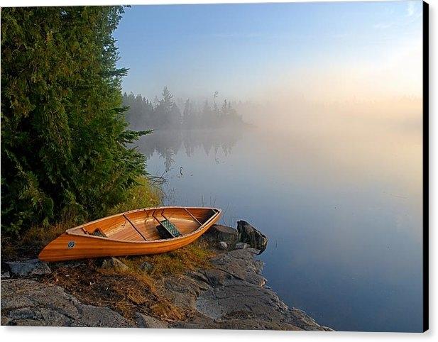 Larry Ricker - Foggy Morning on Spice Lake
