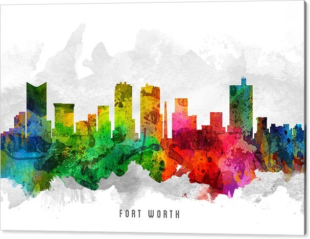 Aged Pixel - Fort Worth Texas Cityscape 12