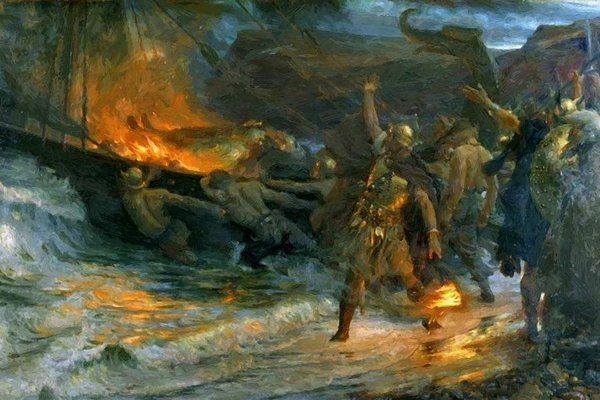 Dicksee Frank - The Funeral Of A Viking 1893