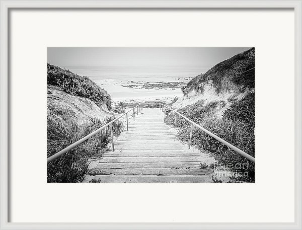 Paul Velgos - Crystal Cove Staircase Black and White Picture