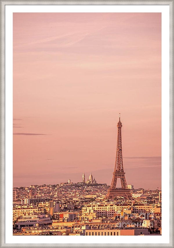 Delphimages Photo Creations - Pink sunset in Paris