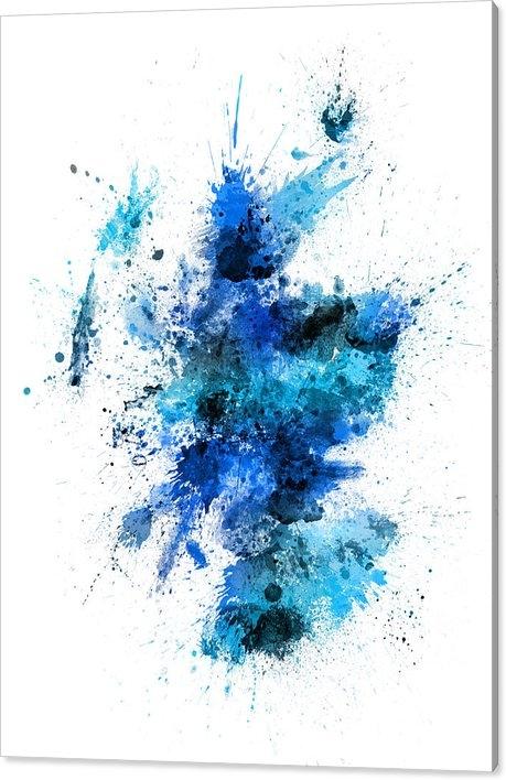 Michael Tompsett - Scotland Paint Splashes Map