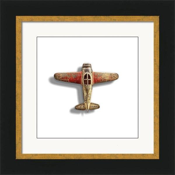 YoPedro - Antique Toy Airplane Floating On White