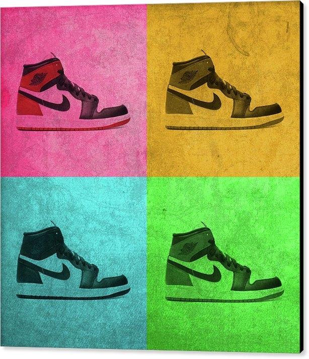 Design Turnpike - 1988 Original Air Jordan Basketball Shoes Vintage Pop Art Color Quadrants