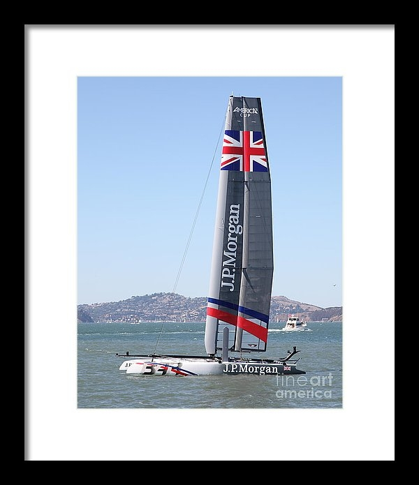 Wingsdomain Art and Photography - America's Cup in San Francisco - Great Britain Ben Ainslie Racing Sailboat - 5D18248