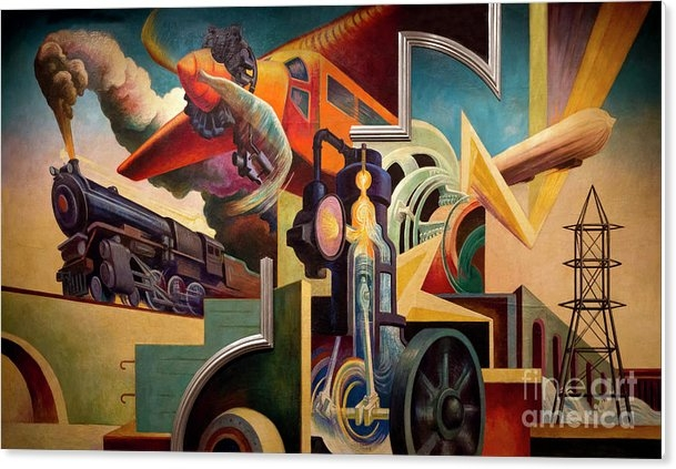 Peter Barritt - Instruments of Power, America Today, Thomas Hart Benton, 1930-19