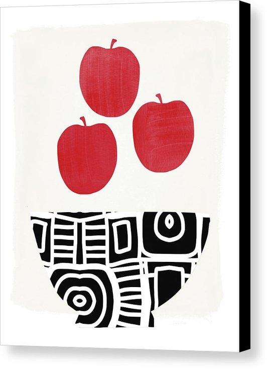 Linda Woods - Bowl of Red Apples- Art by Linda Woods
