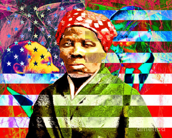 Wingsdomain Art and Photography - Harriet Tubman Martin Luther King Jr Malcolm X American Flag