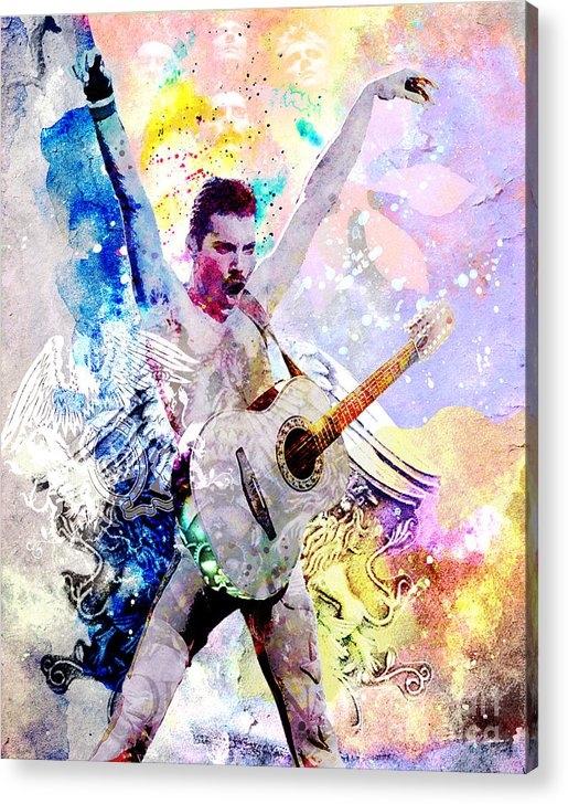 Ryan Rock Artist - Freddie Mercury - Queen Original Painting Print