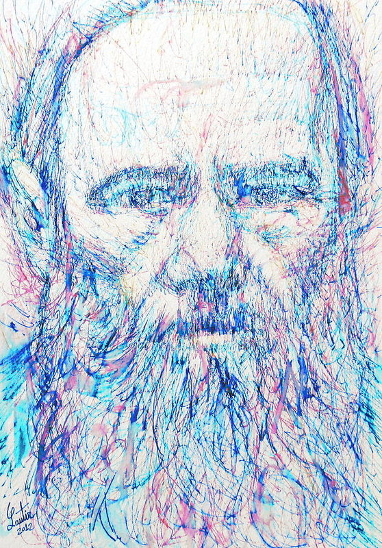 Fabrizio Cassetta - Fyodor Dostoyevsky / colored pens portrait