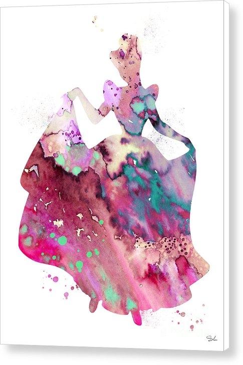 Watercolor Girl - Cinderella