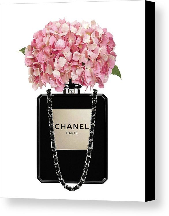 Del Art - Chanel perfume bag with pink hydrangea 2