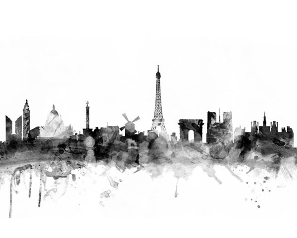 Michael Tompsett - Paris France Skyline 4x5 ratio
