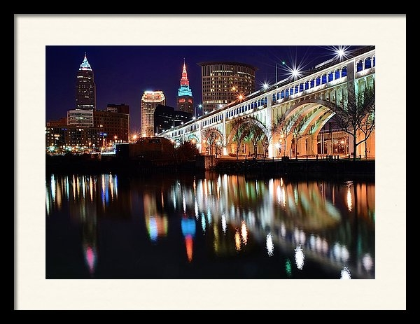 Frozen in Time Fine Art Photography - Cleveland Ohio Skyline