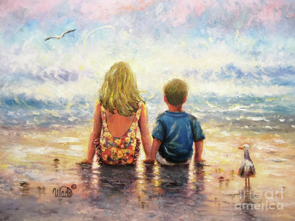 Vickie Wade - Beach Girl and Boy Side By Side
