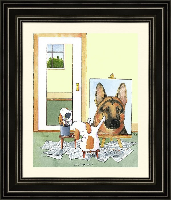 Jim Tweedy - Self Portrait, German Shepherd