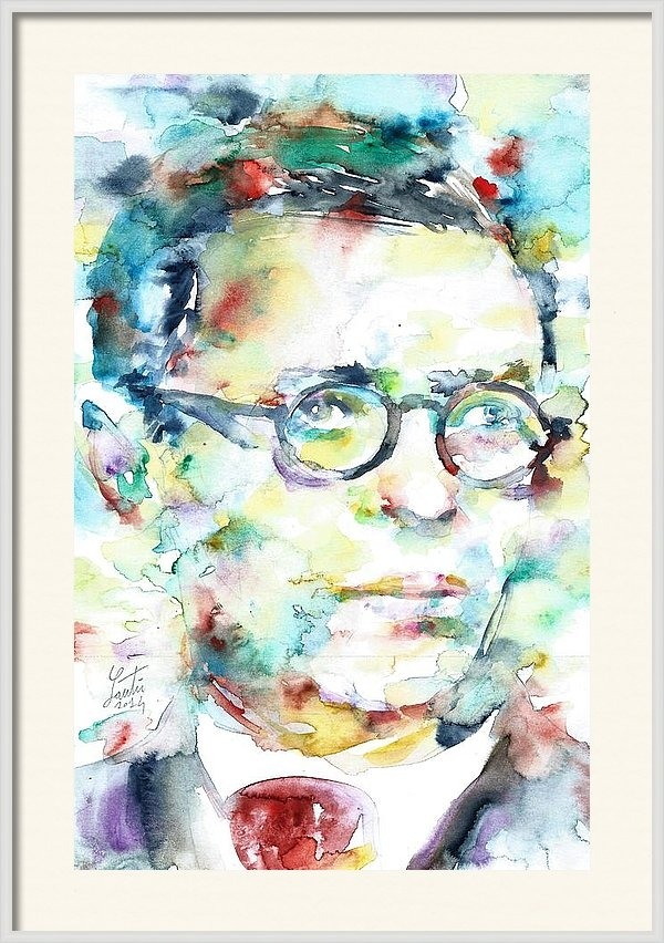 Fabrizio Cassetta - SARTRE - watercolor portrait