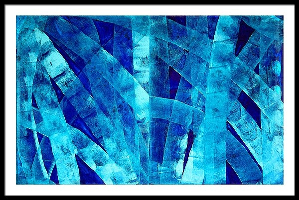 Sharon Cummings - Blue Abstract Art - Paths - By Sharon Cummings