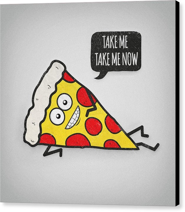 Philipp Rietz - Funny and Cute Delicious Pizza Slice wants only you