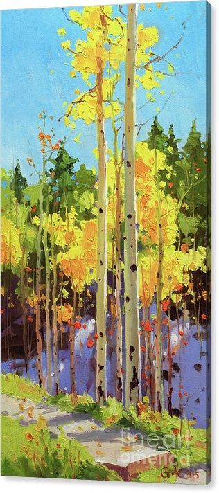 Gary Kim - Golden Aspen in early snow
