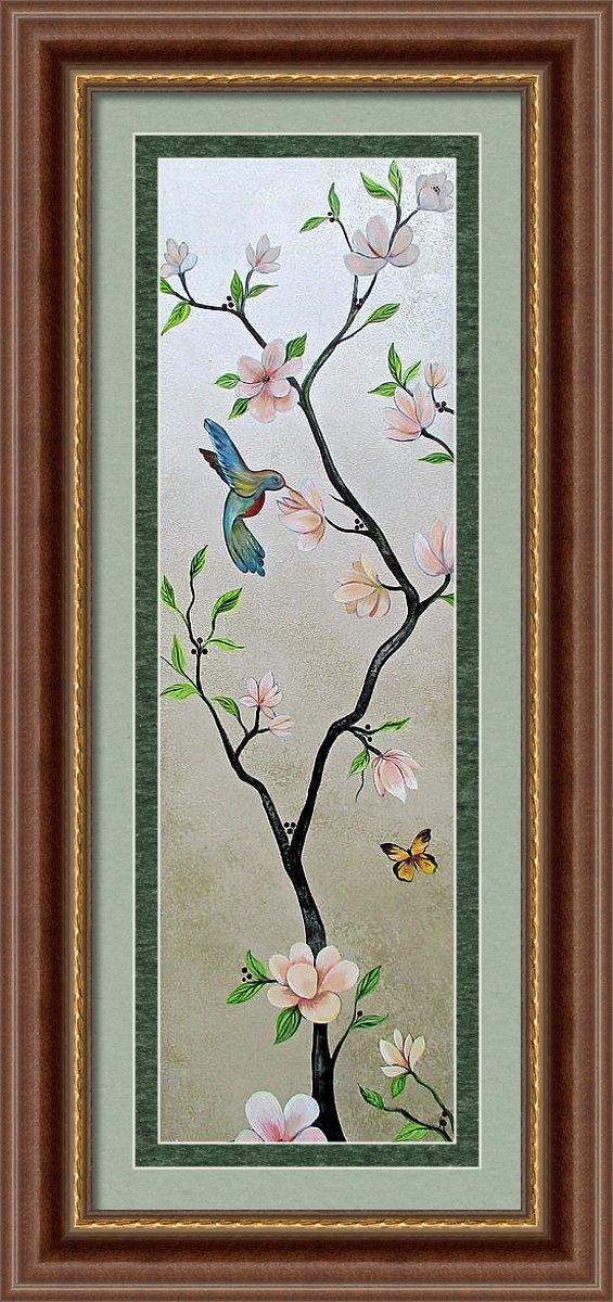 Shadia Derbyshire - Chinoiserie - Magnolias and Birds #5