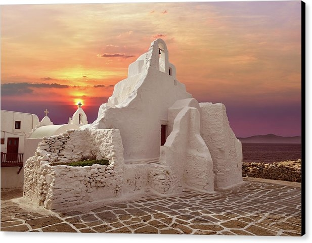 Edwin Verin - Church in Mykonos, Greece