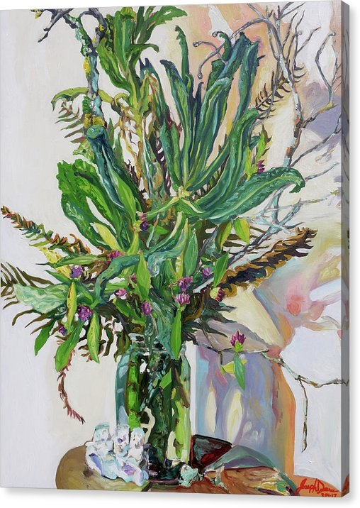 Joseph Demaree - Still Life of Kale, Fallen Twigs and Other Things that Survived The Storm