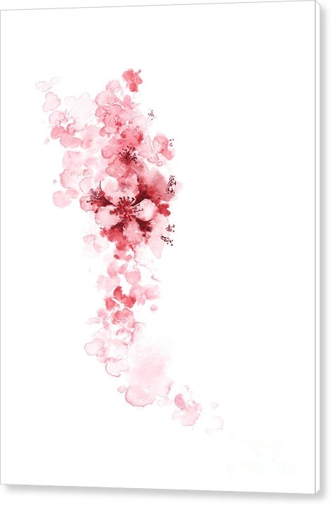 Joanna Szmerdt - Cherry blossom art print watercolor painting