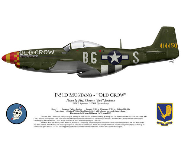 Ed Jackson - Old Crow - P-51 D Mustang