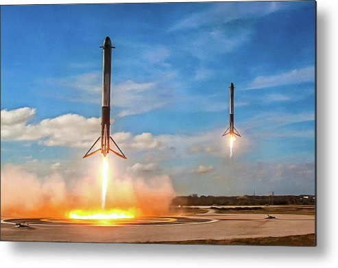 SpaceX - SpaceX Falcon Heavy booster landing