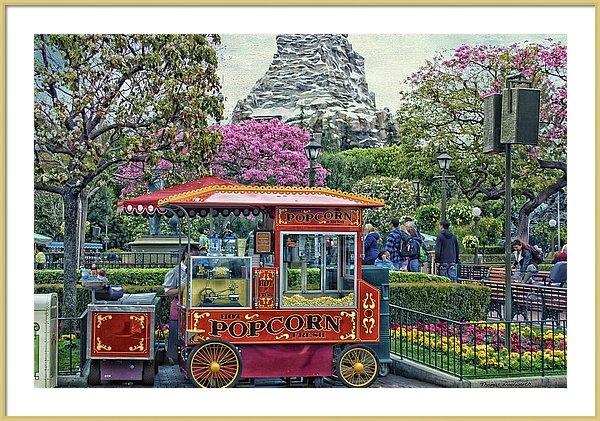 Thomas Woolworth - Matterhorn Mountain With Hot Popcorn At Disneyland Textured Sky