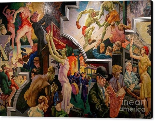 Peter Barritt - City Activities with Subway, America Today, Thomas Hart Benton,